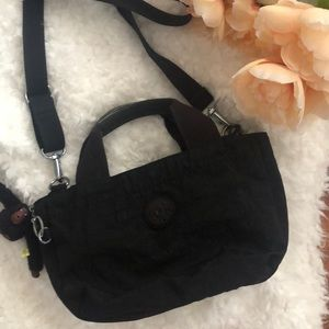 Kipling Black mini tote cross body bag.